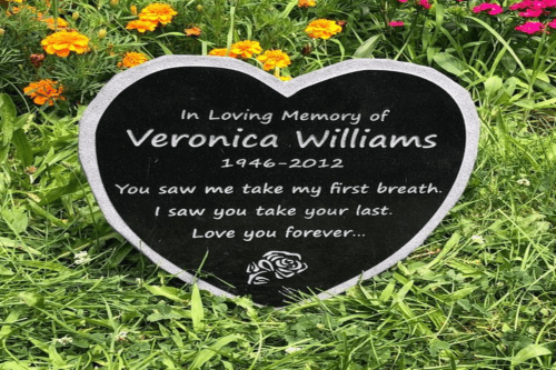 Heart Shape dog plaque for grave
