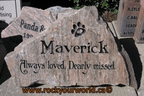 Pet memorial stone and marker