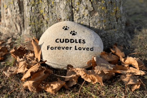 pet memorial markers with personal engravings